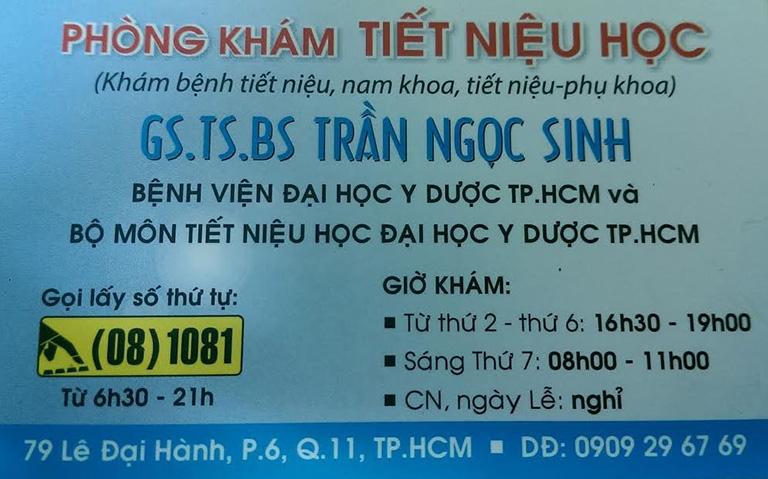 Bác sĩ Trần Ngọc Sinh