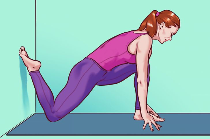 Bài tập căng mông và đùi