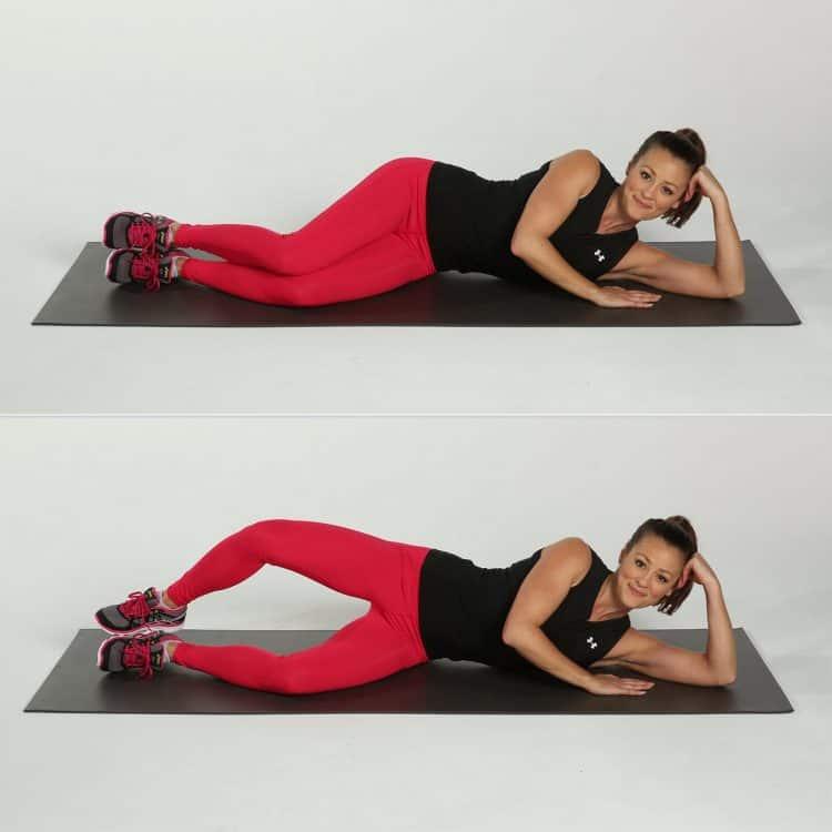 Bài tập nâng chân phía ngang hông