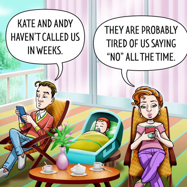 Bạn bè của bạn có thể ngừng ghé thăm hoặc gọi điện thường xuyên