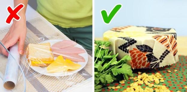 Bọc thức ăn bằng màng bọc sáp ong thay cho màng bọc nhựa