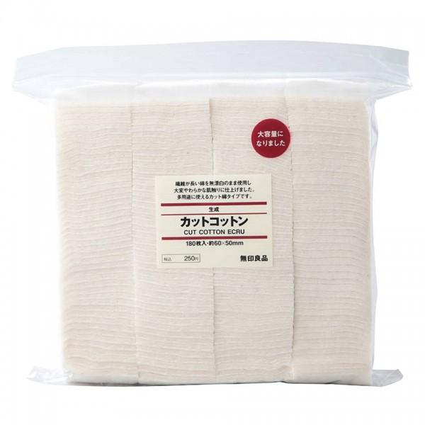 Bông Tẩy Trang Hữu Cơ Muji Cut Cotton Ecru