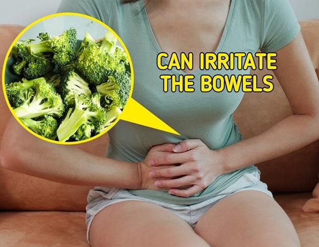 Bông cải xanh có thể gây kích thích đường ruột