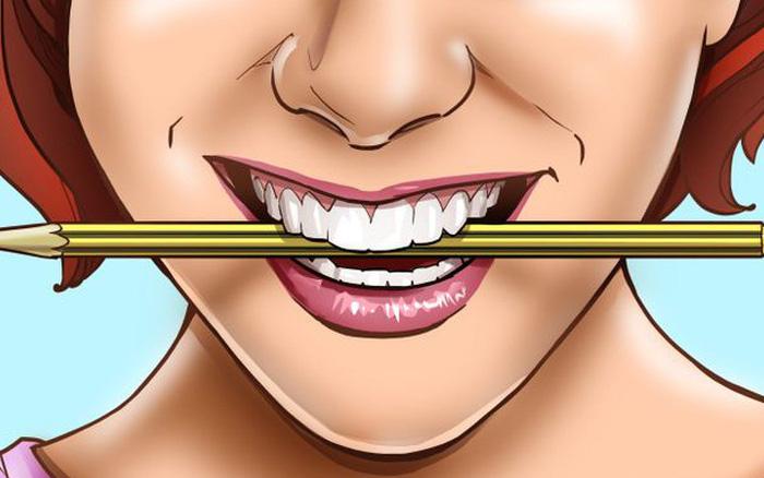 Cải thiện tâm trạng của bạn bằng cách giữ một chiếc bút chì giữa hai hàm răng của bạn