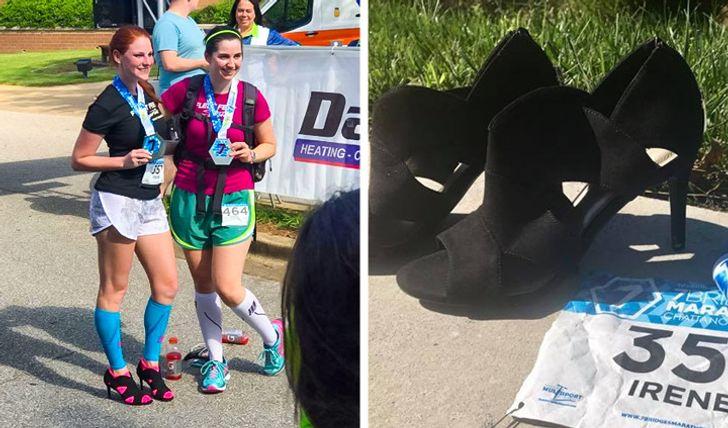Chạy marathon bằng giày cao gót