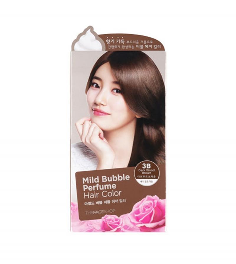 Dầu Gội Tự Nhuộm Tại Nhà The Face Shop Mild Bubble Perfume
