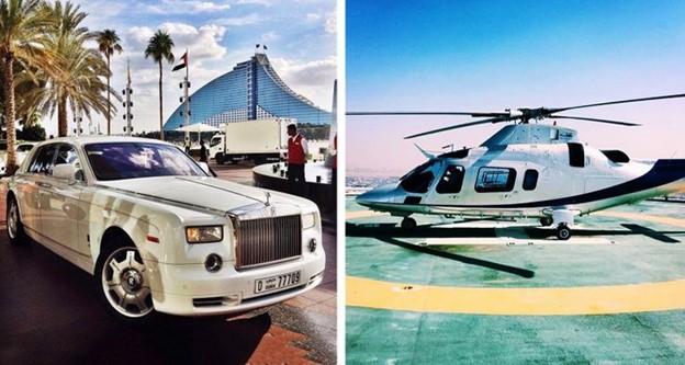 Du khách di chuyển đến khách sạn bằng ô tô hoặc trực thăng riêng