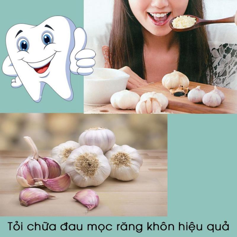 Giảm đau nhức răng khôn bằng tỏi