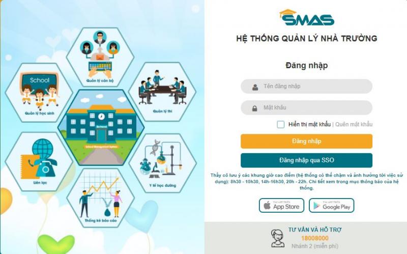 Hệ thống quản lý nhà trường SMAS