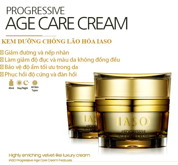Kem đặc trị chống nhăn vùng cổ IASO Progressive Age Care V Neck Cream