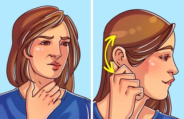Làm dịu cổ họng ngứa rát bằng cách gãi tai