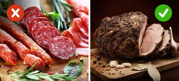 Lạp xưởng, xúc xích, thịt hun khói