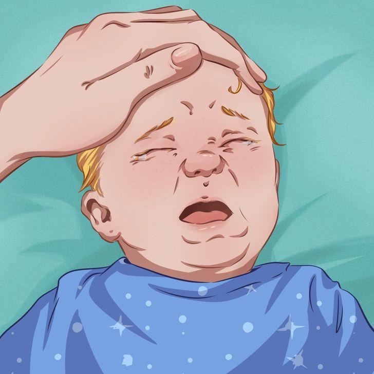 Massage đầu cho bé