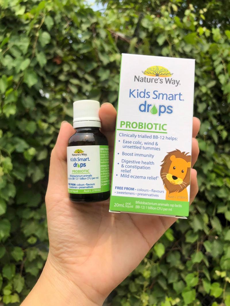 Men vi sinh Nature's Way Kids Smart Drops Probiotic