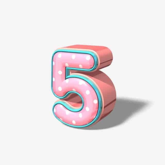 Mơ thấy số 5 có ý nghĩa gì?