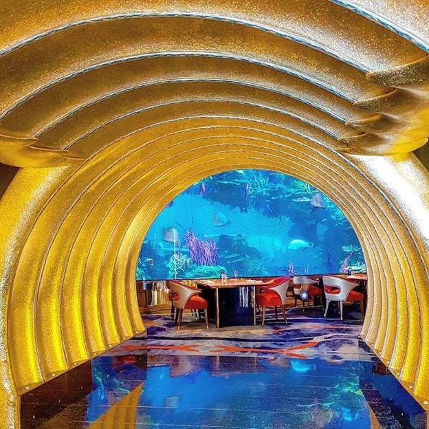 Nhà hàng phục vụ hải sản trong không gian dưới đại dương