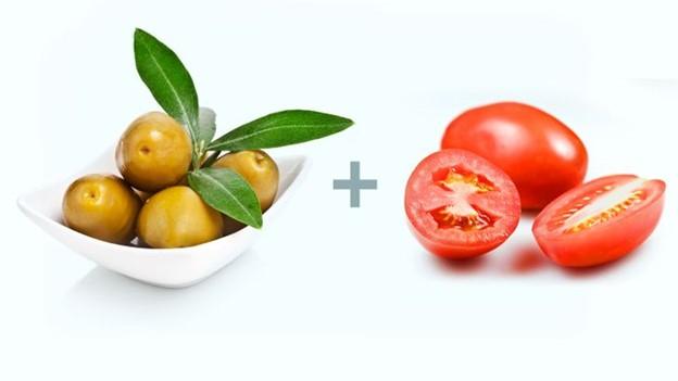 Ô liu + Cà chua