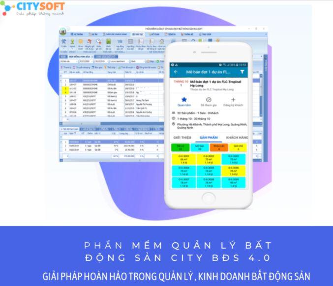Phần mềm quản lý kinh doanh bất động sản CitySoft