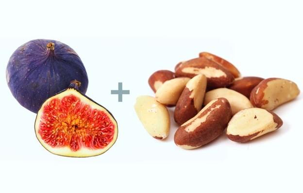Quả sung + Hạt quả hạch Brazil