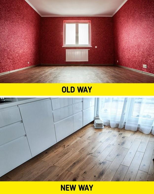 Sàn nhà lót vải sơn