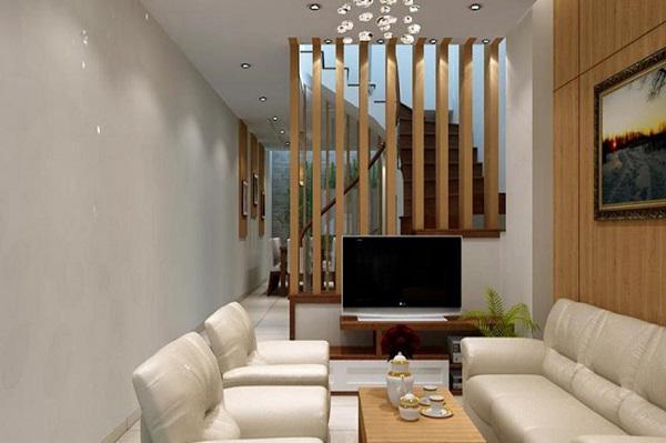 Sử dụng gỗ đồng bộ cho tường, trần, cửa