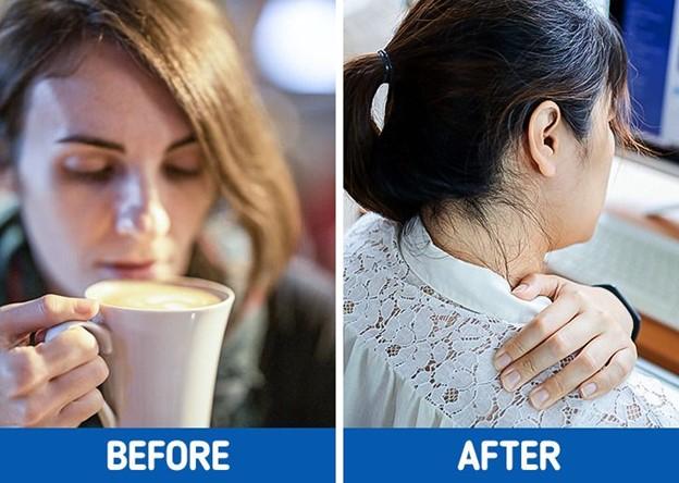Thêm sữa vào cà phê