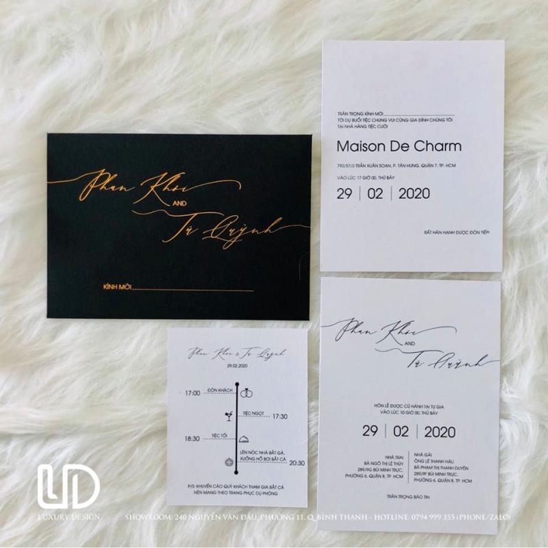 Thiệp Cưới Thiết Kế - Luxury Design