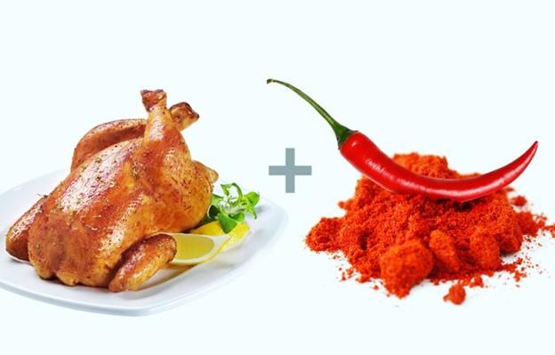 Thịt gà + Ớt cayenne