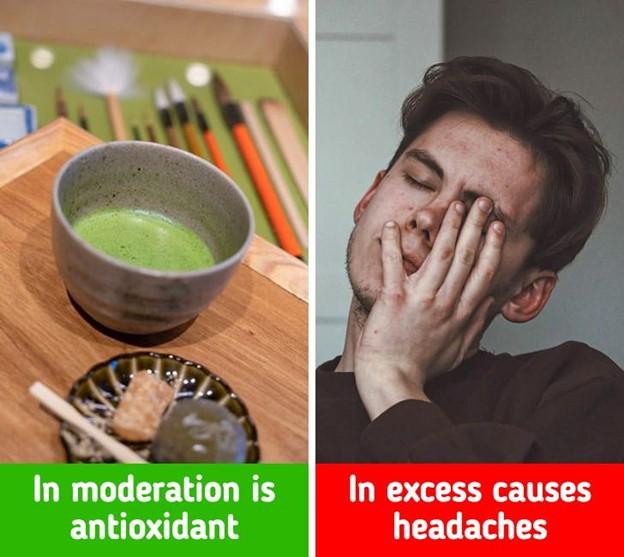 Trà xanh có thể gây đau nhức