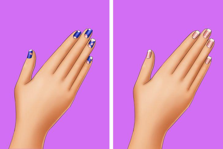 Trên móng tay của bạn để loại bỏ sơn