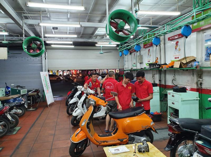 Trung tâm sửa xe và đào tạo nghề sửa xe máy báu FI
