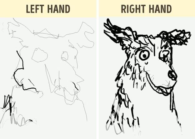 Vẽ nguệch ngoạc bằng tay không thuận