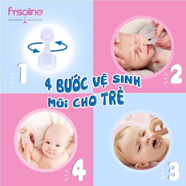 4 bước rửa mũi cho trẻ đem lại hiệu quả