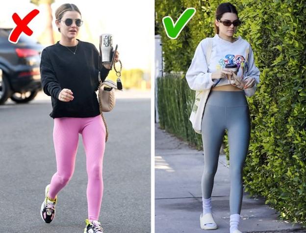 Áo nỉ dài có thể không phải là lựa chọn tốt nhất để kết hợp với quần legging
