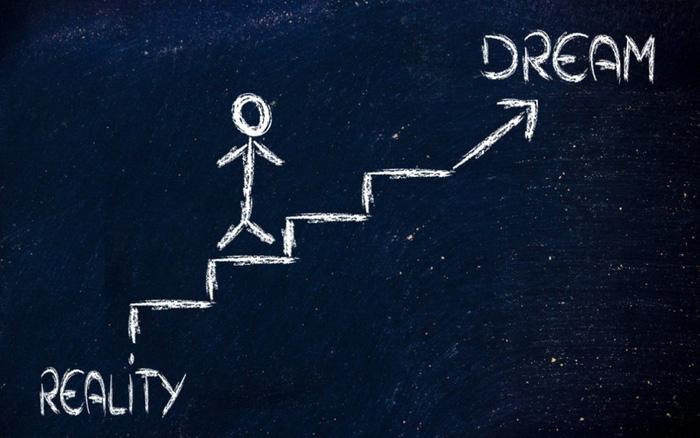 Bạn kiên trì và biết rằng giấc mơ không thành hiện thực trong một giây