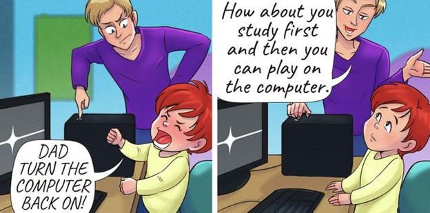 Cha mẹ không nên nhượng bộ khi trẻ khóc hay xin xỏ
