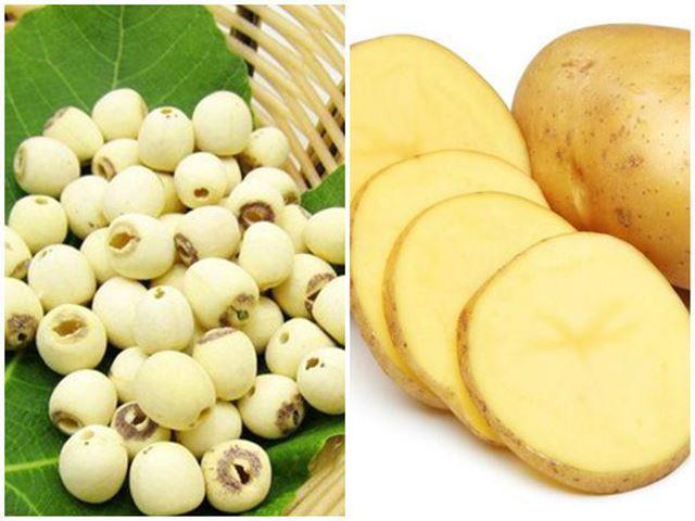 Cháo hạt sen khoai tây
