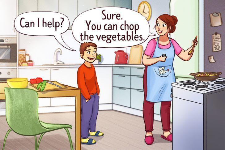 Chấp nhận sự giúp đỡ của con