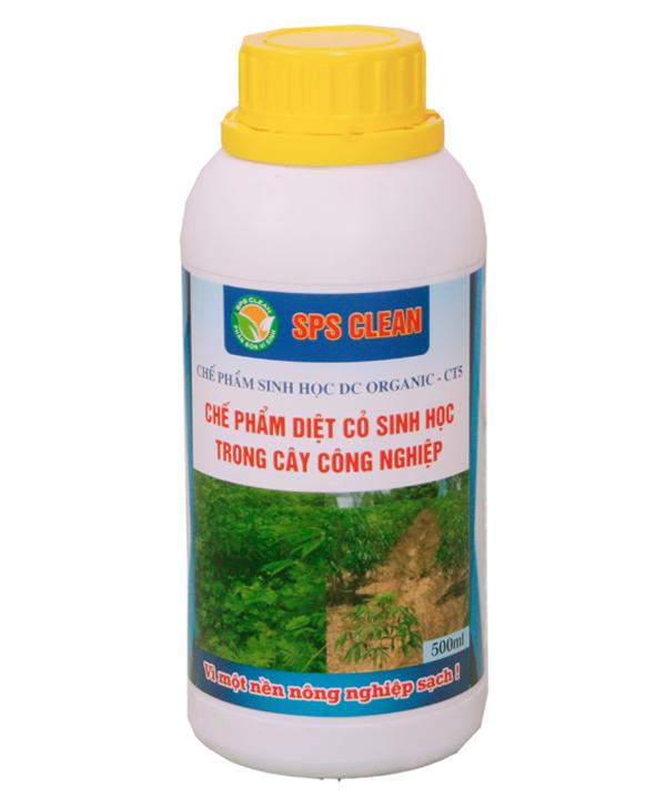 Chế phẩm diệt cỏ sinh học DC Organic CT5 diệt cỏ trong cây công nghiệp