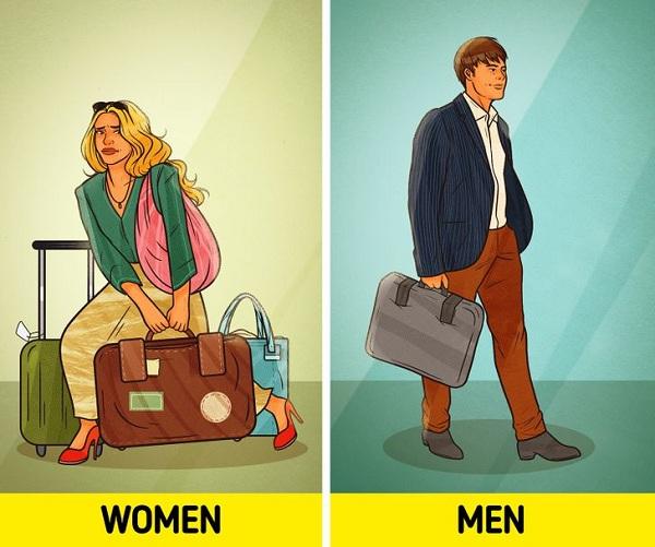 Chỉ mang những thứ cần thiết trong vali