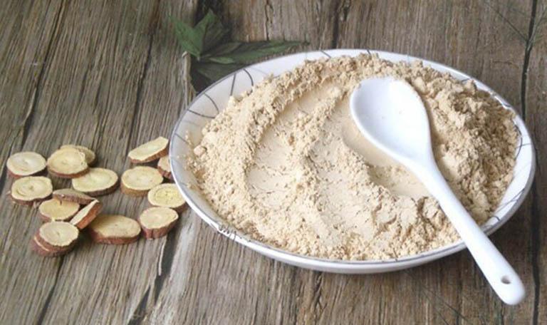 Dùng bột cam thảo chữa zona thần kinh