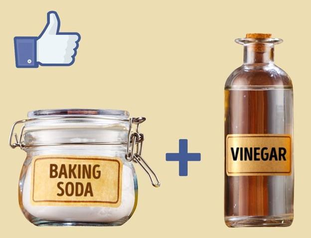 Dùng giấm và baking soda