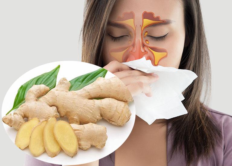 Dùng gừng tươi chữa viêm mũi dị ứng