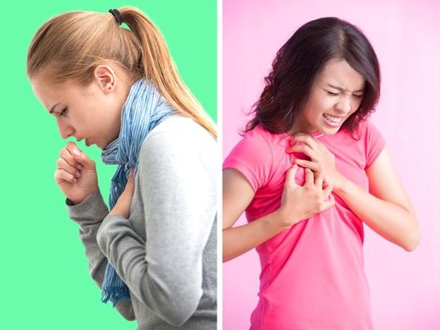 Khó thở hoặc đau ngực