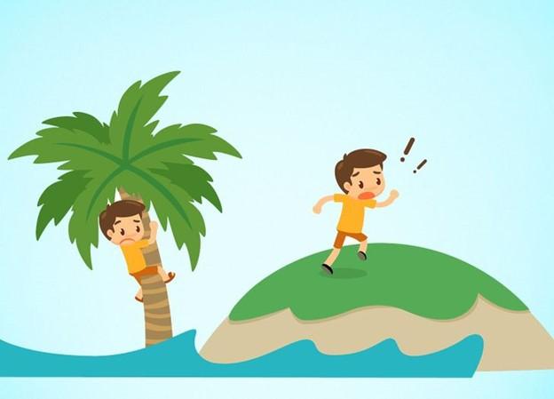 Nếu ai đang ở trên bãi biển hay một hòn đảo khác