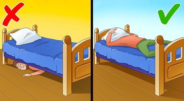 Nếu ai đang ở trên giường ngủ