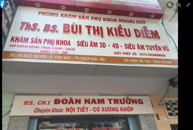 Phòng khám sản phụ khoa – BS Bùi Thị Kiều Diễm