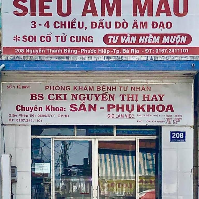 Phòng khám siêu âm phụ sản – Bác sĩ Nguyễn Thị Hay