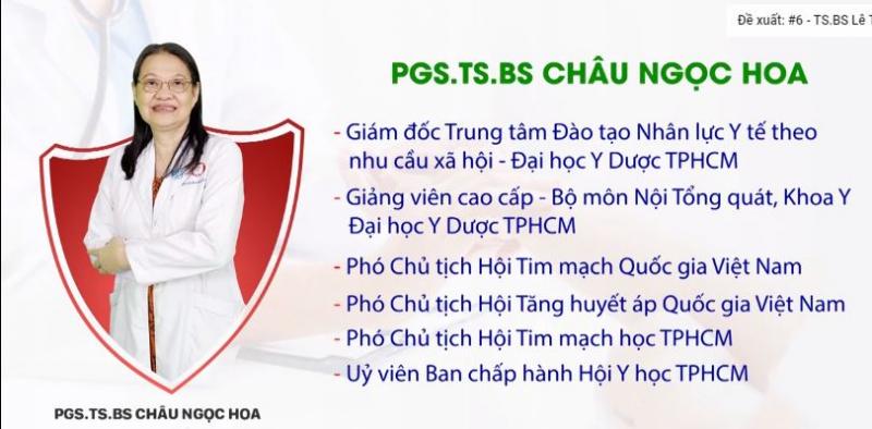 Phòng khám tim mạch PGSTSBS Châu Ngọc Hoa