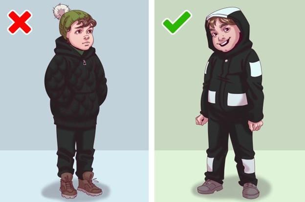 Quần áo tối màu không có khả năng phản chiếu ánh sáng